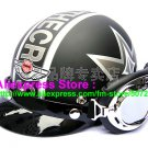 P.50 ABS Half Bol Cycling Open Face Motorcycle Matt Black # character Helmet Casco Casque & Goggles