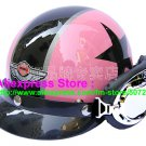 P.56 ABS Half Bol Cycling Open Face Motorcycle Pink # Black Star Helmet Casco Casque & Goggles