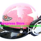 P.57 ABS Half Bol Cycling Open Face Motorcycle Pink # White Star Helmet Casco Casque & Goggles