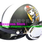 P.59 ABS Half Bol Cycling Open Face Motorcycle Matt Black # Motor Girl Helmet Casco Casque & Goggles