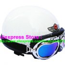 P.62 ABS Half Bol Cycling Open Face Motorcycle Full White Helmet Casco Casque & Goggles