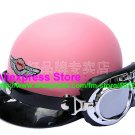 P.64 ABS Half Bol Cycling Open Face Motorcycle Full Matt Pink Helmet Casco Casque & Goggles