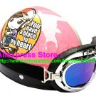 P.66 ABS Half Bol Cycling Open Face Motorcycle Pink # Motor Girl Helmet Casco Casque & Goggles
