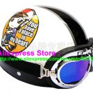 P.68 ABS Half Bol Cycling Open Face Motorcycle White # Motor Girl Helmet Casco Casque & Goggles