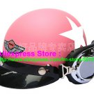 P.71 ABS Half Bol Cycling Open Face Motorcycle Matt Pink # White Star Helmet Casco Casque & Goggles