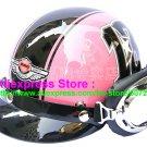 P.84 ABS Half Bol Cycling Open Face Motorcycle Pink # Black 13 Helmet Casco Casque & Goggles