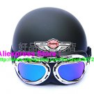 P.86 ABS Half Bol Cycling Open Face Motorcycle Full Matt Black Helmet Casco Casque & Goggles