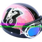 P.89 ABS Half Bol Cycling Open Face Motorcycle Pink # Black 13 Helmet Casco Casque & Goggles