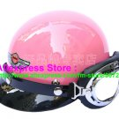 P.98 ABS Half Bol Cycling Open Face Motorcycle Full Pink Helmet Casco Casque & Goggles