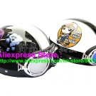 A.11- 2 Unit ABS Half Bol Vespa Cycling Open Face Motorcycle Black + White Helmets & Goggles