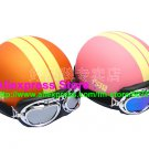 A.15- 2 Unit ABS Half Bol Vespa Cycling Open Face Motorcycle Matt Orange + Pink Helmets & Goggles