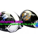 A.18- 2 Unit ABS Half Bol Vespa Cycling Open Face Motorcycle Black + Black Helmets & Goggles