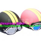 A.19- 2 Unit ABS Half Bol Vespa Cycling Open Face Motorcycle Matt Black + Pink Helmets & Goggles