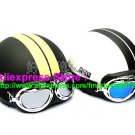A.29- 2 Unit ABS Half Bol Vespa Cycling Open Face Motorcycle Matt Black + White Helmets & Goggles