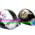 A.34- 2 Unit ABS Half Bol Vespa Cycling Open Face Motorcycle White + Black Helmets & Goggles