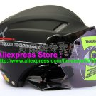 "New Germany ""Tanked 501"" Half Vespa Motorcycle Open Face Racing Cycling Matt Black Helmet"