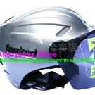 "New Germany ""Tanked 501"" Half Vespa Motorcycle Open Face Racing Cycling Silver Helmet"
