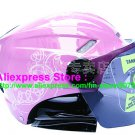 "New Germany ""Tanked 501"" Half Vespa Motorcycle Open Face Racing Cycling Pink Helmet"