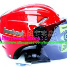 "New Germany ""Tanked 501"" Half Vespa Motorcycle Open Face Racing Cycling Red Helmet"
