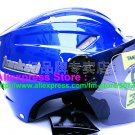 "New Germany ""Tanked 501"" Half Vespa Motorcycle Open Face Racing Cycling Blue Helmet"