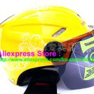 "New Germany ""Tanked 501"" Half Vespa Motorcycle Open Face Racing Cycling Yellow Helmet"