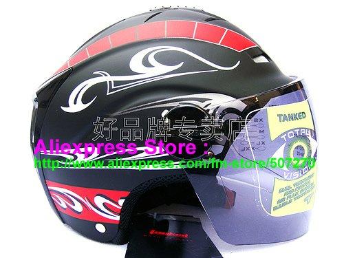 "New Germany ""Tanked 502"" Half Vespa Motorcycle Open Face Racing Cycling Matt Black Helmet"