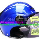 "New Germany ""Tanked 502"" Half Vespa Motorcycle Open Face Racing Cycling Blue Helmet"