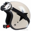 "H.03 Taiwan "" SYC "" ABS Motorbike Open Face Casco Motorcycle Khaki # Black Star Helmet & UV Goggles"