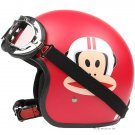 "H.129 Taiwan ""EVO"" Scooter Casque Open Face Casco Motorcycle ""Monkey"" Matt Red Helmet & Goggles"