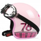 "H.151 Taiwan "" EVO "" Scooter Casco Helm Motorcycle "" 76 Hello Kitty "" Pink Helmet & Goggles"
