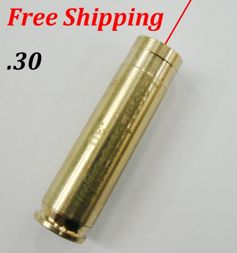 CAL:.30 Cartridge Bore Sighter Red Dot Laser Boresighter Sight Hunting Copper #03