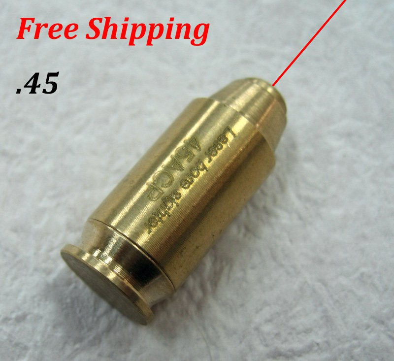 CAL:.45 Cartridge Bore Sighter Red Dot Laser Boresighter Sight Hunting Copper #04
