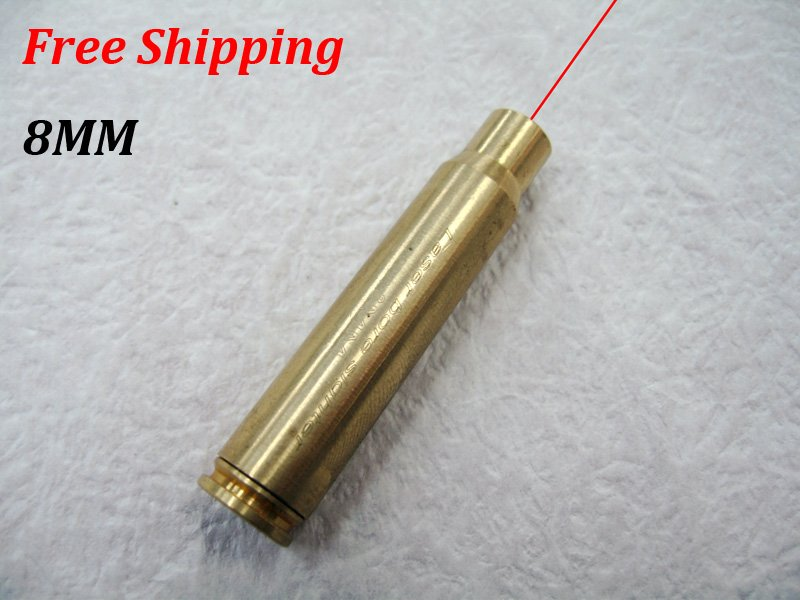 CAL:8MM Cartridge Bore Sighter Red Dot Laser Boresighter Sight Hunting Copper #13