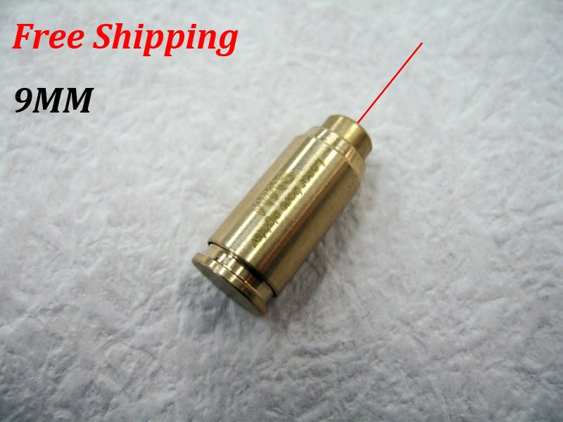 CAL:9MM Cartridge Bore Sighter Red Dot Laser Boresighter Sight Hunting Copper #14