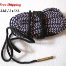 .338 / .34 CAL Bore Snake Gun Cleaning Brass Caliber Cleaner Hunting Rifle/Pistol #07