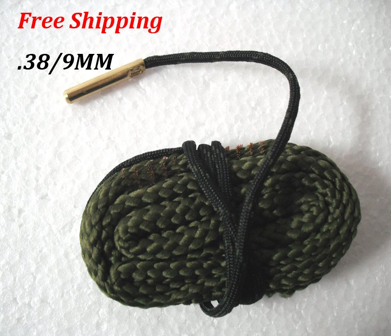 .38 / 9MM Caliber Bore Snake Gun Cleaner Pistol Shotgun Cleaner Hunting Rifle #09