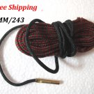 6MM / 243 Caliber Bore Snake Gun Cleaning Pistol Shotgun Cleaner Hunting Rifle #12