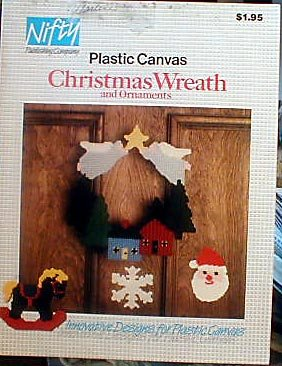 Plastic Canvas Christmas Wreath and Ornaments