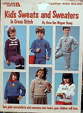 Kid's Sweats and Sweaters in Cross Stitch