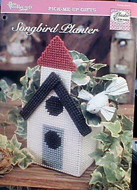 Songbird Planter - NEW Plastic Canvas Pattern
