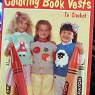 Coloring Book Vests to Crochet