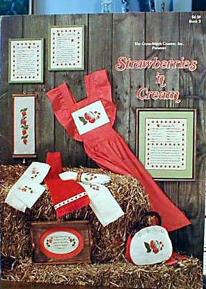 Strawberries 'n Cream - Cross Stitch