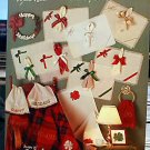 Placemats XI - Holiday Bows - Cross Stitch in EXCELLENT Condition