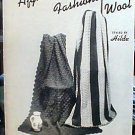 New Afghans - Fashions in Wool - EXCELLENT Crochet/Knit