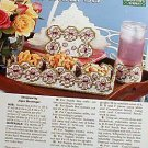 Floral Snack Set - Plastic Canvas Pattern in MINT Condition