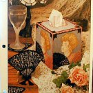 Fan Tissue Box & Coasters - Plastic Canvas Pattern