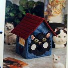 Cat Birdhouse - Plastic Canvas Pattern