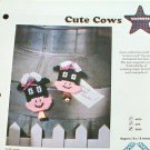 Cute Cows and For the Gardener -Plastic Canvas Patterns - Magnets - MINT