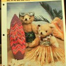 Beach Bear Set - Plastic Canvas Pattern in Mint Condition