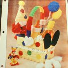 Clown Basket - NEW Plastic Canvas Pattern